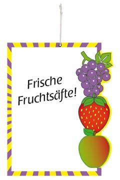 """Design Tafel """"Früchte"""" 50x40cm, 2 Stk."""