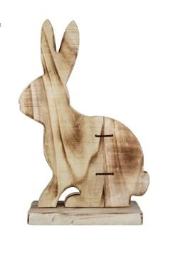 Hase aus Holz, geflammt, 30cm, 1 Stk.