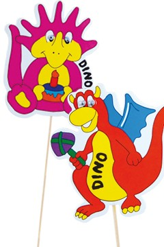 "Deko-Picker ""Dino Familie"", 23cm, 100 Stk."