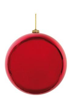 Weihnachtskugel XL aus Kunststoff, rot, Ø25cm, 1 Stk.