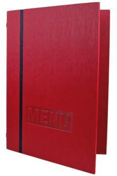 "Speisekarte ""Elegance"", A4, rot, 8 Seiten, 1 Stk."