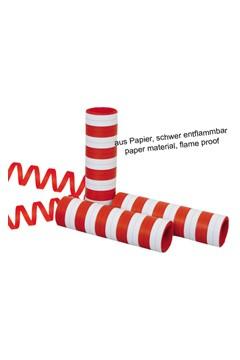 Luftschlange rot/weiss, á 4m, 2 Rollen