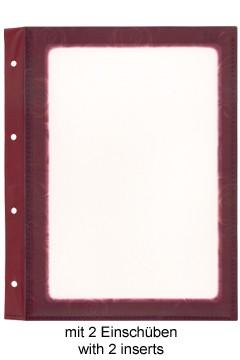 Folienblätter, weinrot, A4, 10 Stk.