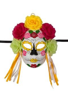 Maske mit Blumen und Bänder, ca. 28cm, 1 Stk.