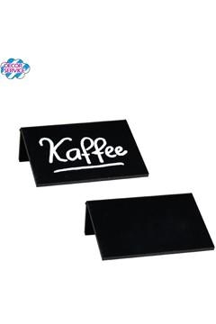 Tisch-Kreidetafeln, PVC, schwarz, ca. 7.5x5x2.5cm, DIN A8, 3 Stk.