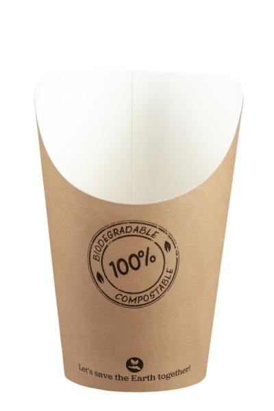 BIO Pommes Boxen aus Karton, 11cm, 50 Stk.