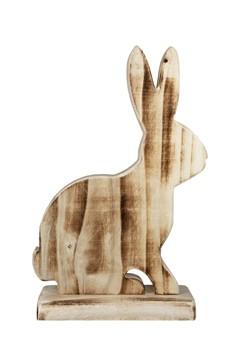 Hase aus Holz, geflammt, 25cm, 1 Stk.