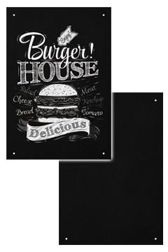 Wand-Kreidetafel ohne Rahmen, schwarz, 55x80cm, 1 Stk.