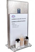 """Tischaufsteller """"3in1"""" aus Acrylglas, A5, 1 Stk."""