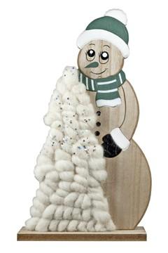 Schneemann aus Holz 30.5 cm, 1 Stk.