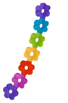 """Blumen-Girlande """"Farbenspiel"""" aus Papier, schwer entflammbar, Ø18cm, 7.2m, 1 Stk."""