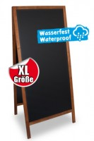 Gehweg-Kreidetafel XL, dunkelbraun, wasserfest, 72x160cm, 1 Stk.