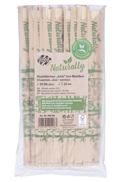 """Essstäbchen """"Asia"""" aus Bambus, 23cm, 20 Stk."""