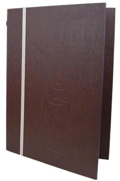 """Speisekarte """"Elegance"""", A4, braun, 8 Seiten, 1 Stk."""