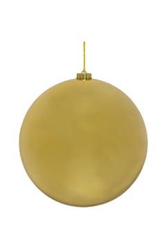 Weihnachtskugel XL aus Kunststoff, gold, Ø25cm, 1 Stk.