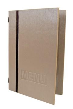 """Speisekarte """"Elegance"""", A5, beige, 8 Seiten, 1 Stk."""
