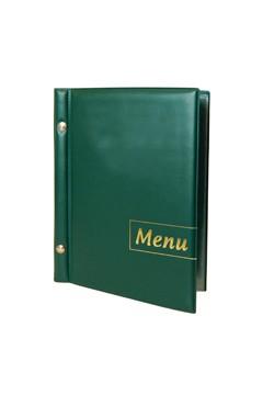 "Speisekarte (PVC) ""Menu"" dunkelgrün, 8 Seiten, A5, 1 Stk."