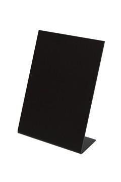 Tisch-Kreidetafeln, PVC, schwarz, ca. 7.4x10.5cm, DIN A7, 3 Stk.