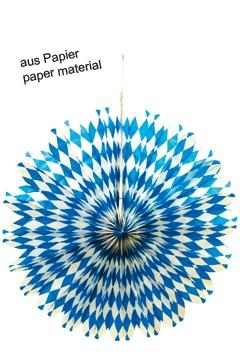 """Rosette """"Oktoberfest"""" aus Papier, Ø50cm, 1 Stk."""
