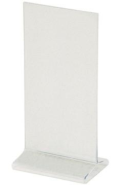 """Tischaufsteller """"T-Ständer"""" aus Acrylglas, 10x21cm, 1 Stk."""
