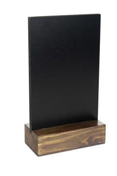 Tisch-Kreidetafel, dunkelbraun, A6, 1 Stk.