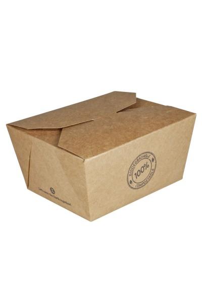 BIO Take-Away Boxen aus Karton, 13x11x6.4cm, 25 Stk.