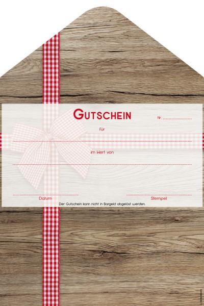 """Geschenkgutschein """"Ribbon"""", 19x28.5cm, 25 Stk."""