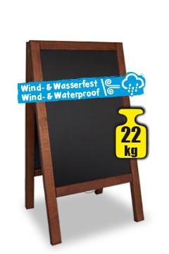 Gehweg-Kreidetafel, dunkelbraun, wind- und wasserfest, 65x118cm, 1 Stk.