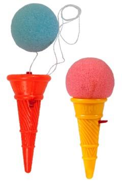 """Springballspiel """"Eistüte"""" ca. 9cm, 24 Stk."""
