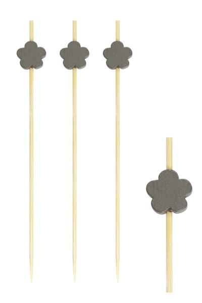 """Fingerfood Spieße """"Blume"""" aus Bambus, 12cm, 200 Stk."""
