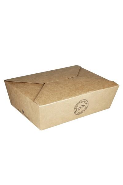 BIO Take-Away Boxen aus Karton, 17.2x14x6.4cm, 25 Stk.