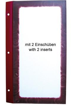 Ersatzblätterf. Folienkarte weinrot 32,6x20,5cm 10 Stk.