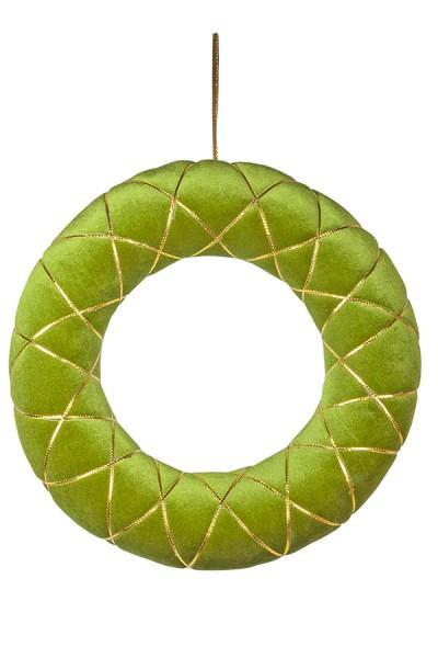 Kranz aus Samt, grün, 40 cm