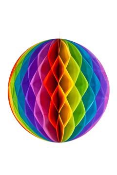 """Wabenball """"Farbenspiel"""" aus Papier, schwer entflammbar, Ø32cm, 1 Stk."""