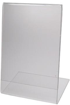 """Tischaufsteller """"L-Ständer"""" aus Acrylglas, A4, 1 Stk."""