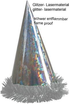 Hut mit Fransen, Ø14 cm, 24 cm 1 Stk.