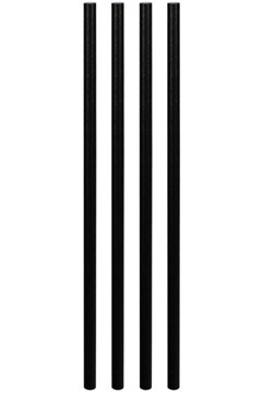 Trinkhalme aus Papier, dick, schwarz, Ø8mm, 25cm, 50 Stk.
