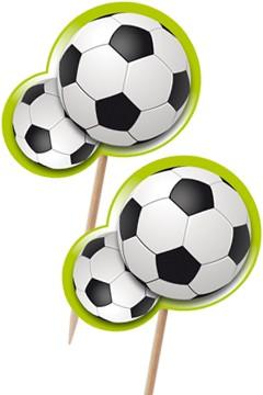 """Deko-Picker """"Fussball"""", 8cm, 100 Stk"""