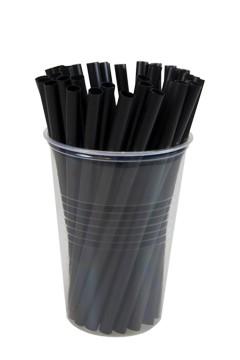 Trinkhalme, schwarz, Ø6.5mm, 13cm, 250 Stk.