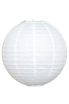 Lampion aus Papier, weiß, Ø35cm, 1 Stk.