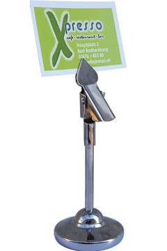 "Tischkartenhalter ""Clip"" aus Edelstahl, ca. 10.4cm, 1 Stk."