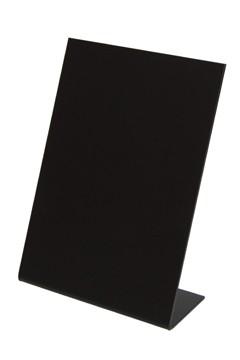 Tisch-Kreidetafeln, PVC, schwarz, ca. 14.8x21cm, DIN A5, 3 Stk.