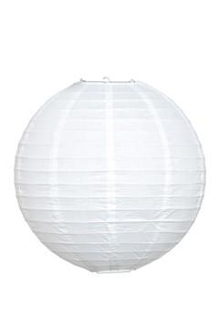 Lampion aus Papier, weiß, Ø25cm, 1 Stk.