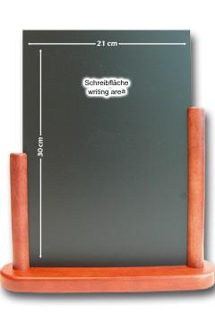 Tisch-Kreidetafel, mahagoni, 21x30cm, 1 Stk.