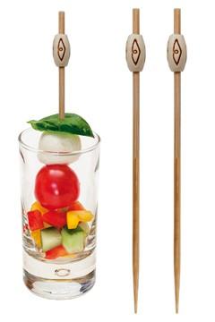"""Fingerfood Spieße """"Rhombus"""" aus Bambus, 12cm, 200 Stk."""