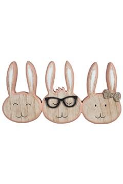 "Osterdekor ""Hasenköpfe"" aus Holz, 23 cm, 1 Stk."