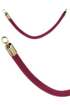 Seil rot mit goldenen Enden, 150 cm