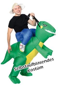 """Kostüm """"Erforscher auf Dino"""", aufblasbar, für Erwachsene, 1 Stk."""