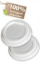 BIO Deckel für 250-300ml Becher, CPLA, Ø9cm, 50 Stk.