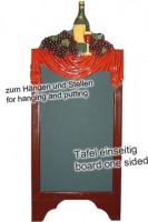 Gehweg-Kreidetafel ''Wein'', 40x100cm, 1 Stk.